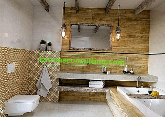 Beige e legno: una soluzione per un bagno in stile ecologico