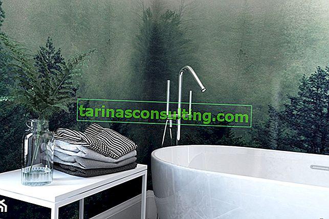5 carte da parati per il bagno ispirate alla natura