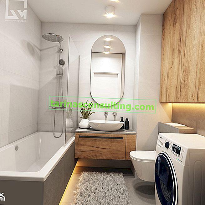 Quale mobile per un lavabo da appoggio funzionerà in un piccolo bagno? 4 idee