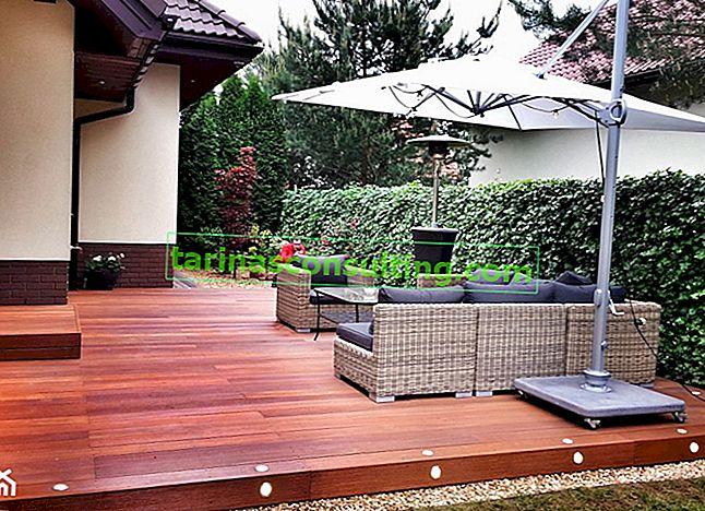 Lesena terasa: gradnja lesene terase