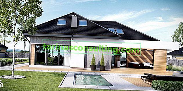 Scegliamo una casa. I progetti di case più belli con una piscina