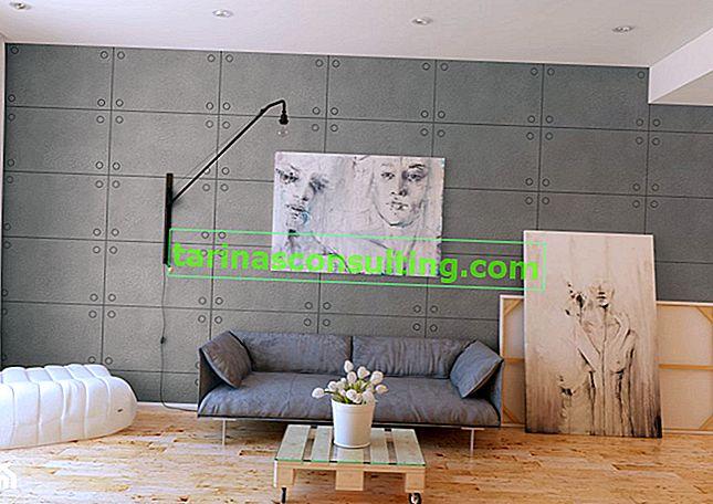 Come ottenere l'effetto cemento in un piccolo appartamento?