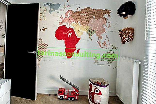 Wandaufkleber - eine schnelle und effektive Möglichkeit, eine Wand zu dekorieren
