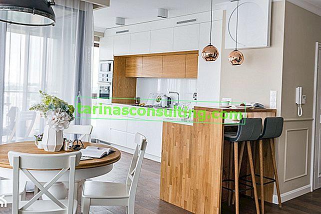 Rideaux et rideaux à la mode pour une cuisine moderne