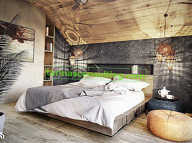 Holz an der Wand, eine Idee für eine natürliche Inneneinrichtung