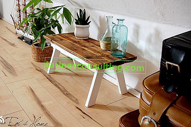 Comment faire un parterre de fleurs / table à partir de vieilles planches?