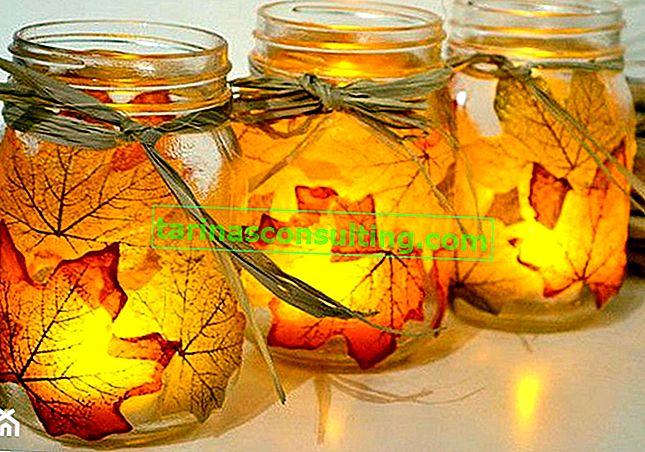 Come realizzare un candeliere e una ciotola di foglie autunnali? Fai da te