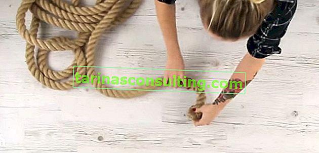 DIY: comment faire un tapis de jute?