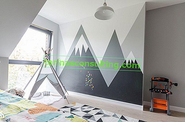 Montagne sul muro fai da te - guida alla pittura passo dopo passo