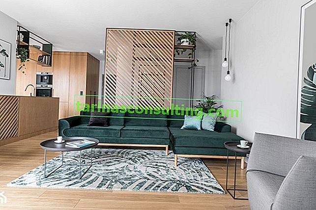 Un progetto unico: il verde bottiglia in un appartamento moderno