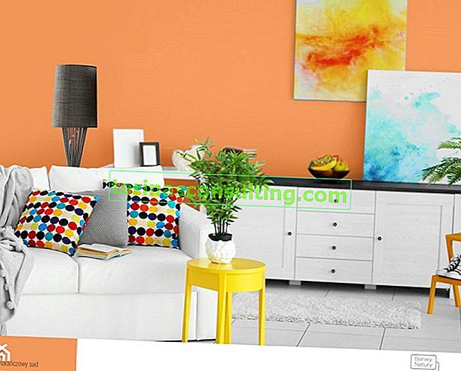 Il colore arancione degli interni: scegliere la tonalità giusta