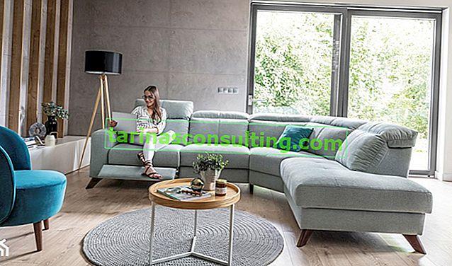 Che colore dei mobili si abbina bene alle pareti grigie? Guarda le colorate metamorfosi del soggiorno