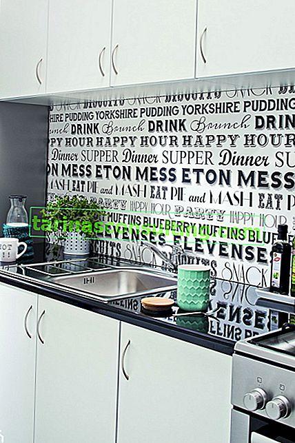 Murs de la cuisine - idées créatives pour la finition