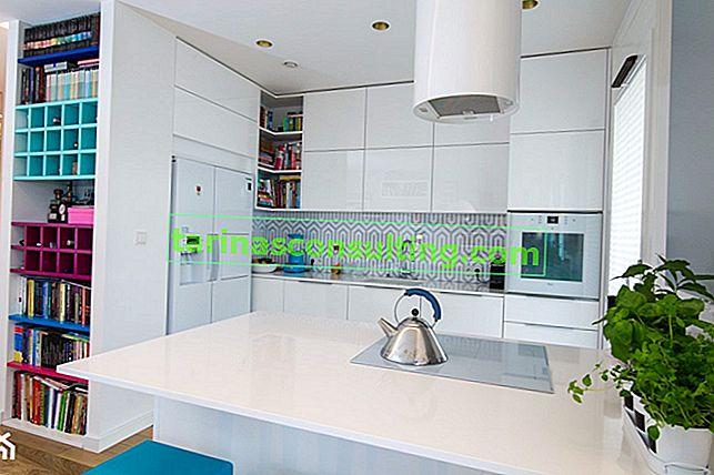 Come organizzare una moderna cucina bianca - 7 modi