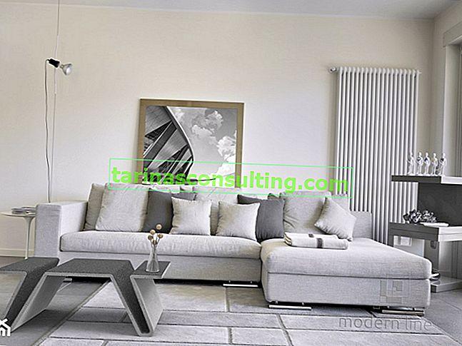 Con il cemento per soggiorni, ovvero mobili che cambiano gli interni