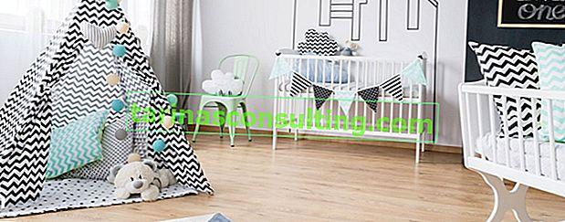 Le sol de la chambre des enfants - lequel choisir?