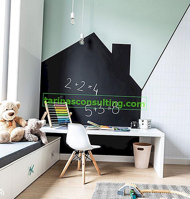 Peinture pour tableau noir dans la chambre d'un enfant - voyez comment peindre une pièce pour un élève et un enfant d'âge préscolaire!