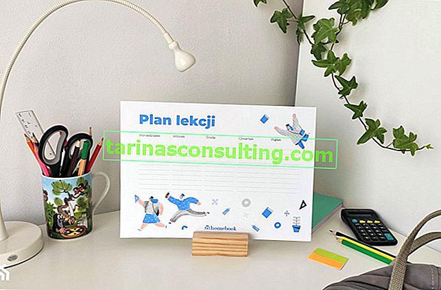 Plan de cours imprimable - Commencez l'année scolaire 2020/2021 avec Homebook.pl!