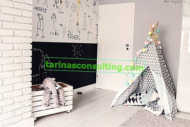 Dessins au mur - une idée originale pour aménager la chambre d'un enfant
