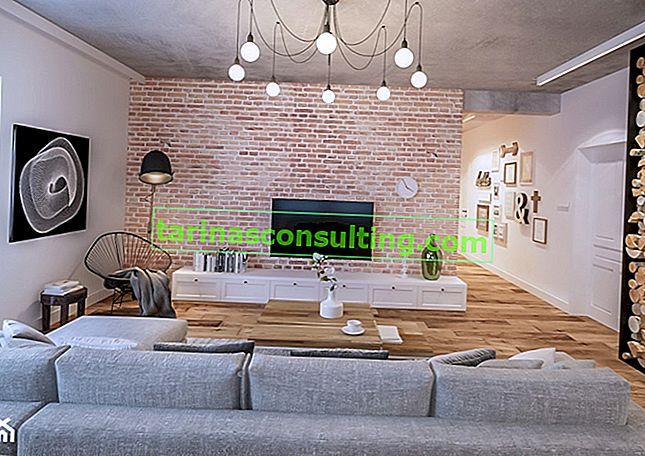 Vecchi mattoni in un appartamento moderno