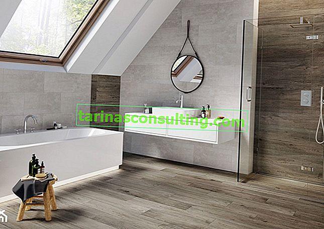 Con cosa combinare piastrelle ispirate al cemento? Vedi la disposizione dei bagni moderni