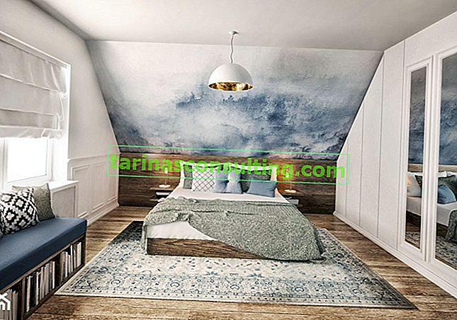 Una camera da letto mansardata con inclinazioni: come sistemarla?