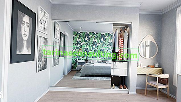 Uno spogliatoio come stanza separata o come un armadio in vetro che fa parte della stanza?