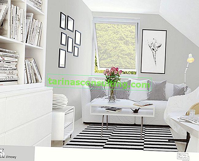 Di che colore sono le pareti per i mobili bianchi?
