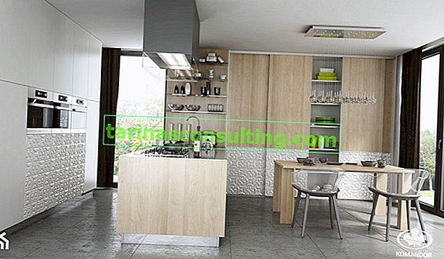 Un armadio in cucina, che è un interno funzionale ed efficace. Come pianificarli?