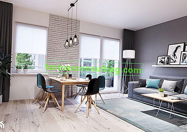 Deckenschienen - ein Weg für eine minimalistische Fensterdekoration in einer modernen Wohnung