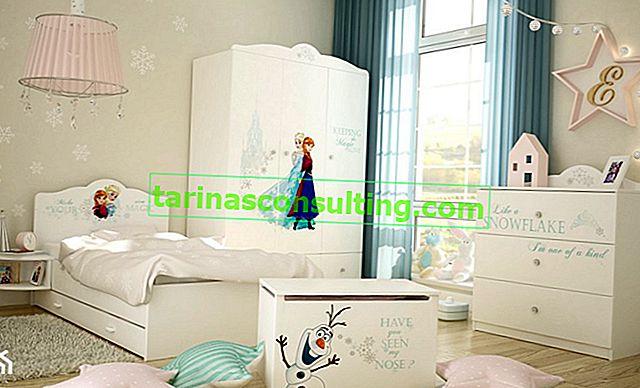 Gefroren - wir arrangieren ein Zimmer für ein Kind