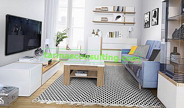 Come organizzare un soggiorno in bianco?