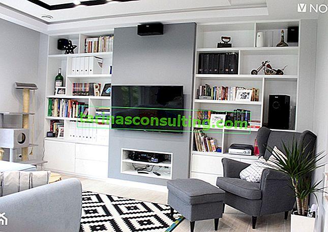 L'idea per una TV in soggiorno: armadi, tavoli TV