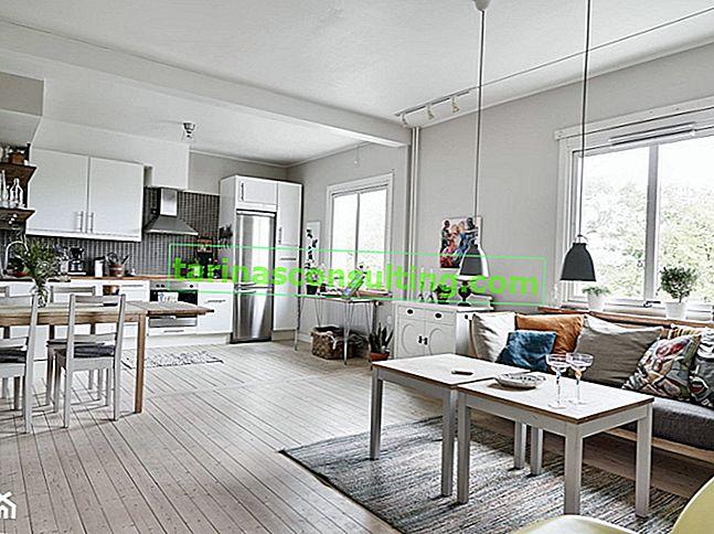 Come decorare un soggiorno con una sala da pranzo - 6 idee