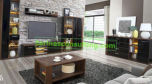 Come organizzare un soggiorno con mobili scuri?