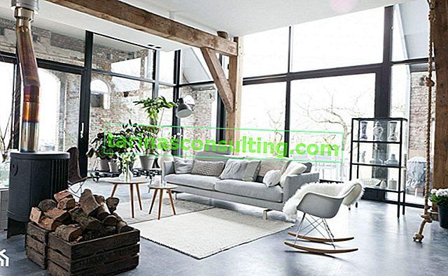 Interieur im modernen Bauernhausstil. Lebe in einem Haus, das vom Buch Ania von Zielona Gora inspiriert ist
