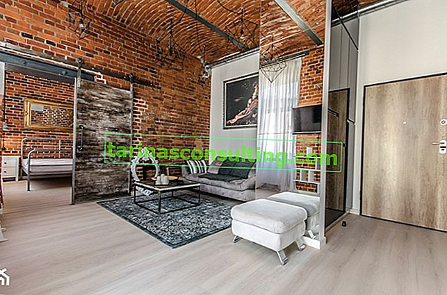 Eine kleine Wohnung im Loft-Stil für eine Person