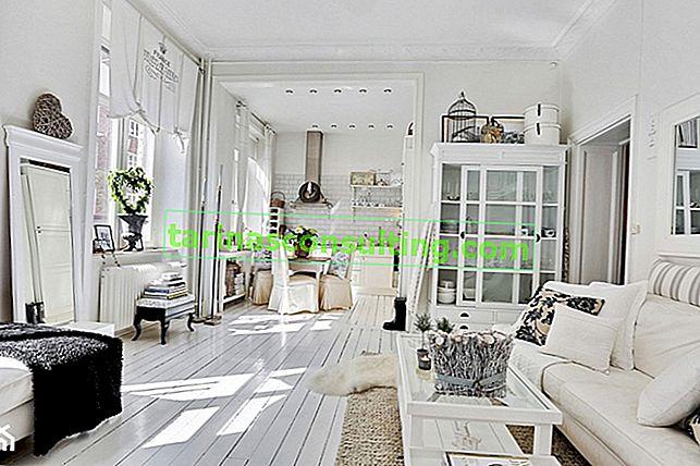 Vivere in bianco o bianco nell'appartamento?