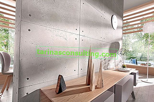 Dekorativer Beton für die Wand. Rohes Detail in Ihrer modernen Wohnung