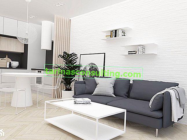 Mattone bianco sul muro - 7 idee per l'interior design con mattoni bianchi