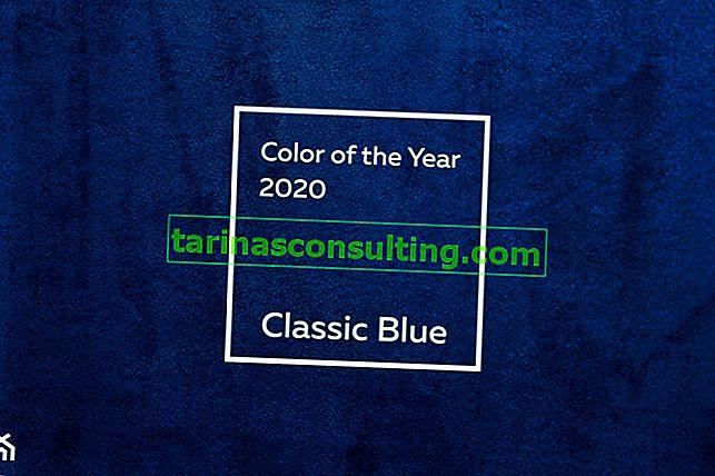 Die Farbe des Jahres 2020 nach Angaben des Pantone Institute - Classic Blue