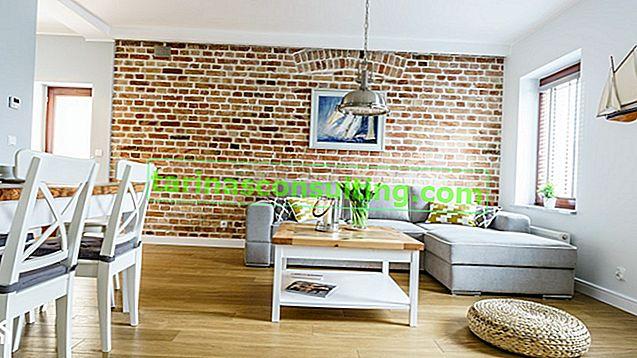 10 idee per un interessante interior design con un muro di mattoni (più un film)