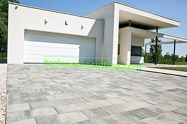 Tendenze architettoniche: un vialetto moderno fatto di lastre di pavimentazione