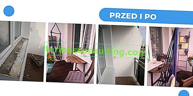 Der Balkon in einem Plattenblock wurde von Ola und Marcin für 1.500 - 4 m² PLN renoviert